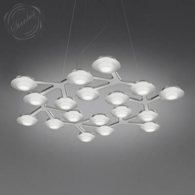 Led Net Circle Suspension Chandelier By Artemide Lighting 3